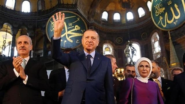أردوغان في آيا صوفيا