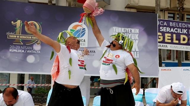 مسابقة الفلفل الحار في تركيا 4