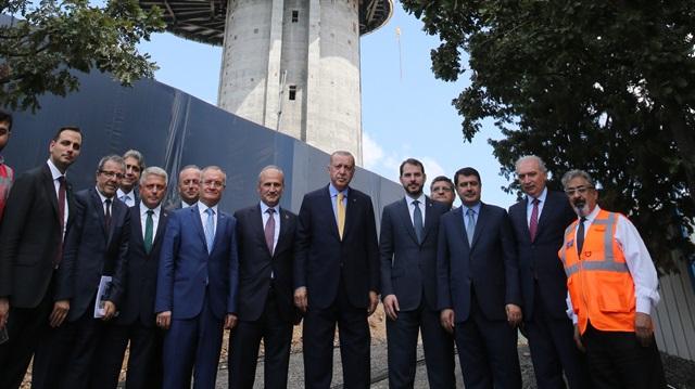 أردوغان يتفقد مشاريع