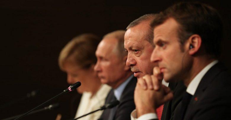 أردوغان ماكرون بوتين ميركل