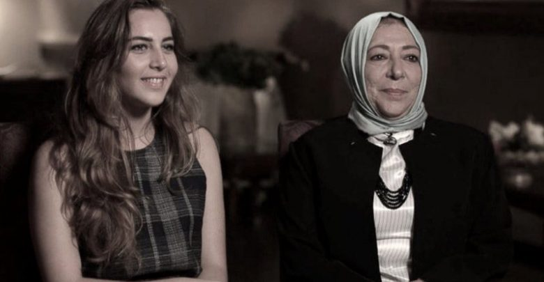 عروبة بركات و ابنتها