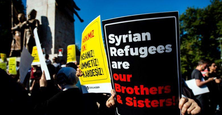 مظاهرة سوريين تركيا
